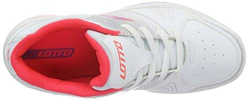 Lotto T-Strike Jr L, Zapatillas de Tenis Unisex infantil Blanco / Morado (Wht / Prp Jam)