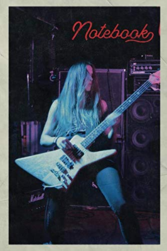 Notebook: Rock Guitar Rockgitarre Terrific Composition Book Journal Diary for Men, Women, Teen & Kids Vintage Retro Design for beginner bass player notes