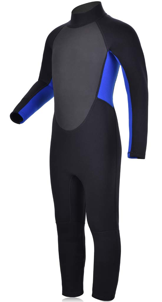 Realon Kids Wetsuit Shorty Boys Girls 3mm Neoprene One Piece Thermal Swimsuit 2mm Warm Full Long Sleeve Wet Suits Cover Toddler Child Junior Youth Swim Surf Dive