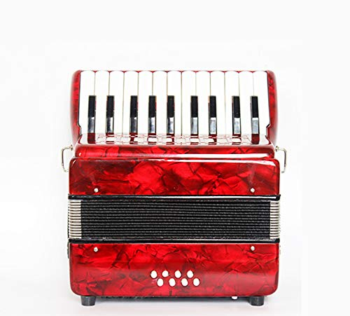 SFQNPA Red Toy Wood Accordion Musical Instrument Mini Small 22 Key 8 Bass Accordion Educational Instrument Children's Toys Children Amateur Beginner by SFQNPA