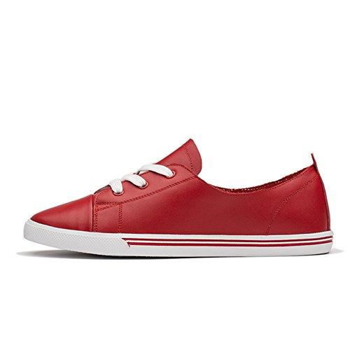 Giy Damesmode Lage Top Veters Sneakers Platte, Comfortabele Casual Sportschoenen Voor Buiten Rood