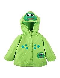 Ephex Kid Boys Girls Frog Waterproof Outwear Jacket Coat with Hood
