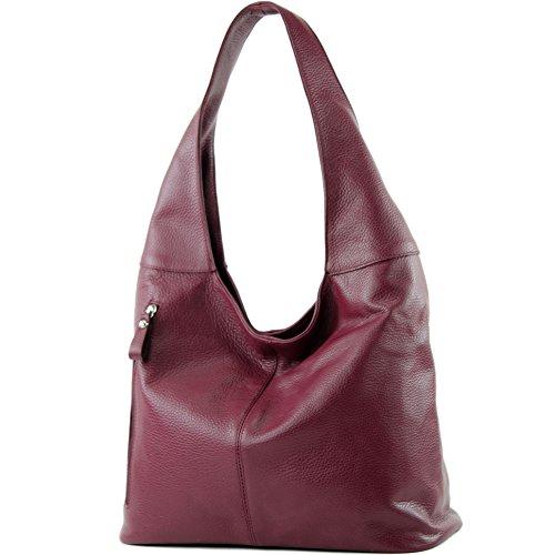 ital Bordeauxrot Leather Bag Shoulder T166 Shoulder modamoda Wildleder T150 Bag de Bag Damentasche n7FH5FxR