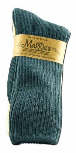 Maggie's Organic Cotton Crew Socks Tri-pack, 9-11 3PK, Navy/Natural/Black