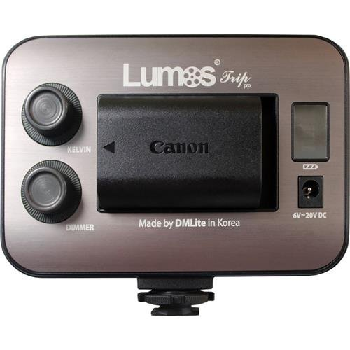Lumos Trip Pro On-Camera LED Light with Lens, 100W Equivalent Tungsten, 3200K to 5600K by Lumos