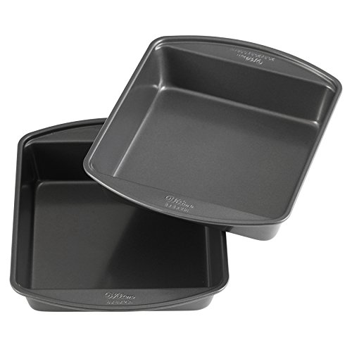 Wilton Perfect Results Premium Non-Stick 8-Inch Square Cake Pans, Set of - New Brownie Pan