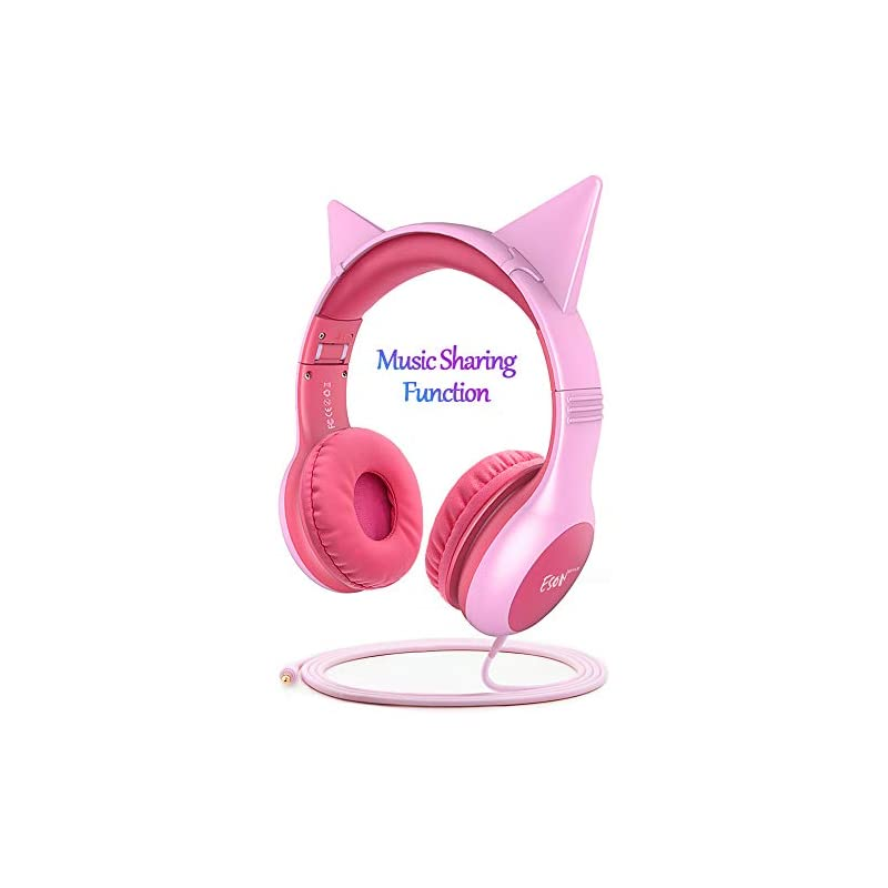 Esonstyle Kids Headphones Pink Girls Upd