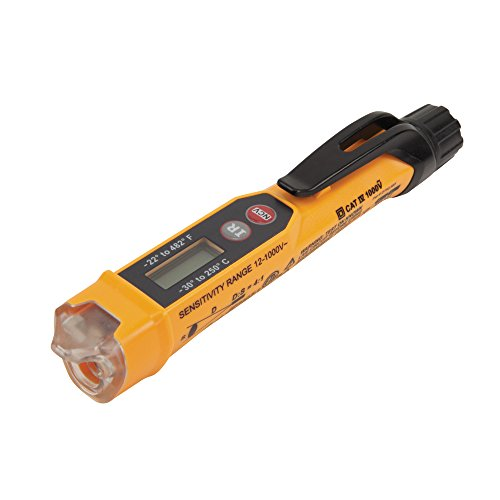 (Non-Contact Voltage Tester with Infrared Thermometer Tests AC Voltage and IR Temperature Klein Tools NCVT-4IR)