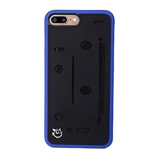 - Kroo Expandable Slim TPU Wallet Card & Accessories Case for Apple iPhone 7 Plus - Blue