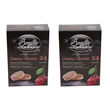 Bradley Smokers 106690 Cherry Bisquettes Smoker, 24-Pack (2 Pack)