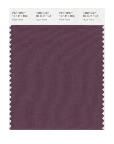 PANTONE Smart 18-1411X Color Swatch Card, Plum Wine ()
