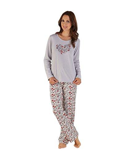 Slenderella Ensemble de Pyjama à Manches Longues - Rouge GL04707