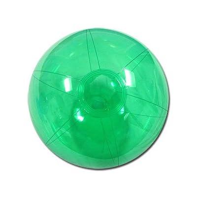 Beachballs - 12-inch Translucent Green Beach Ball: Sports & Outdoors
