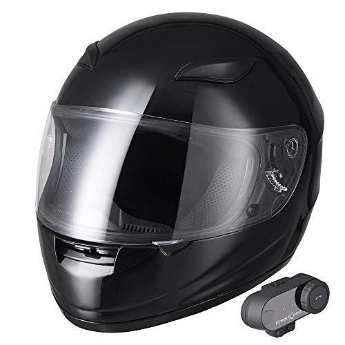 Yescom Bluetooth Motorcycle Full Face Helmet Motorbike Modul