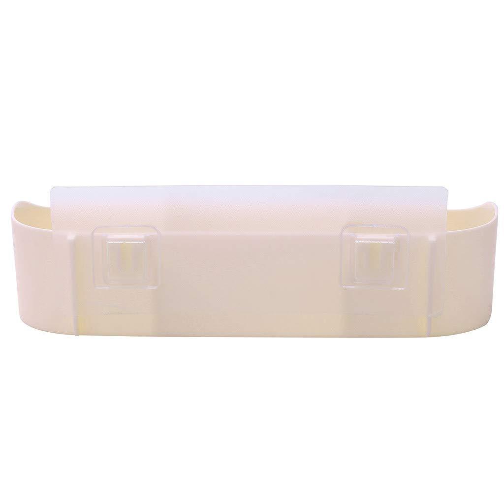 AGUIguo Plastic Bathroom Kitchen Corner Storage Rack Organizer Shower Shelf (Beige) by AGUIguo bathroom products (Image #3)