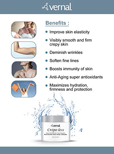 41iQcdRQ sL - Crepe-less skin firming cream to repair crepey arms and neck. Best tightening cream to erase crepy skin on arms, neck and body. Best moisturizer to treat saggy, crepe skin. Made in USA