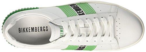 Bianco Sneaker green Bikkembergs Cosmos white 2096 Uomo 1AxIqSw