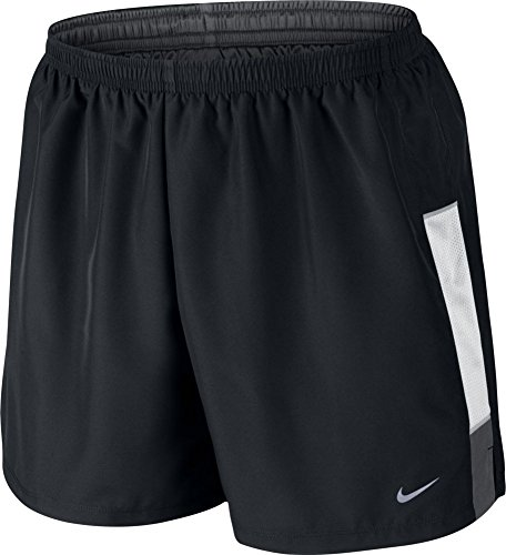 "NIKE Men 5"" Dri Fit Reflective Lined Running Shorts, Black W"