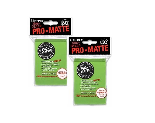 Ultra Pro PRO-MATTE (100 Count) Lime Green Deck Protector Sleeves - Magic the Gathering (1 - Pro Lime
