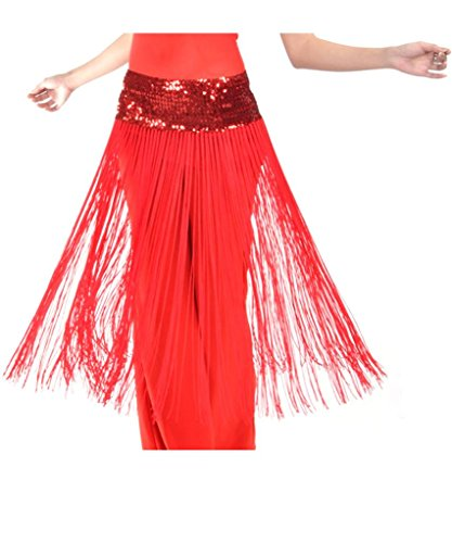 Ru Sweet Women's Belly Dance Hip Scarf Highlights Cloth With Long Tassels