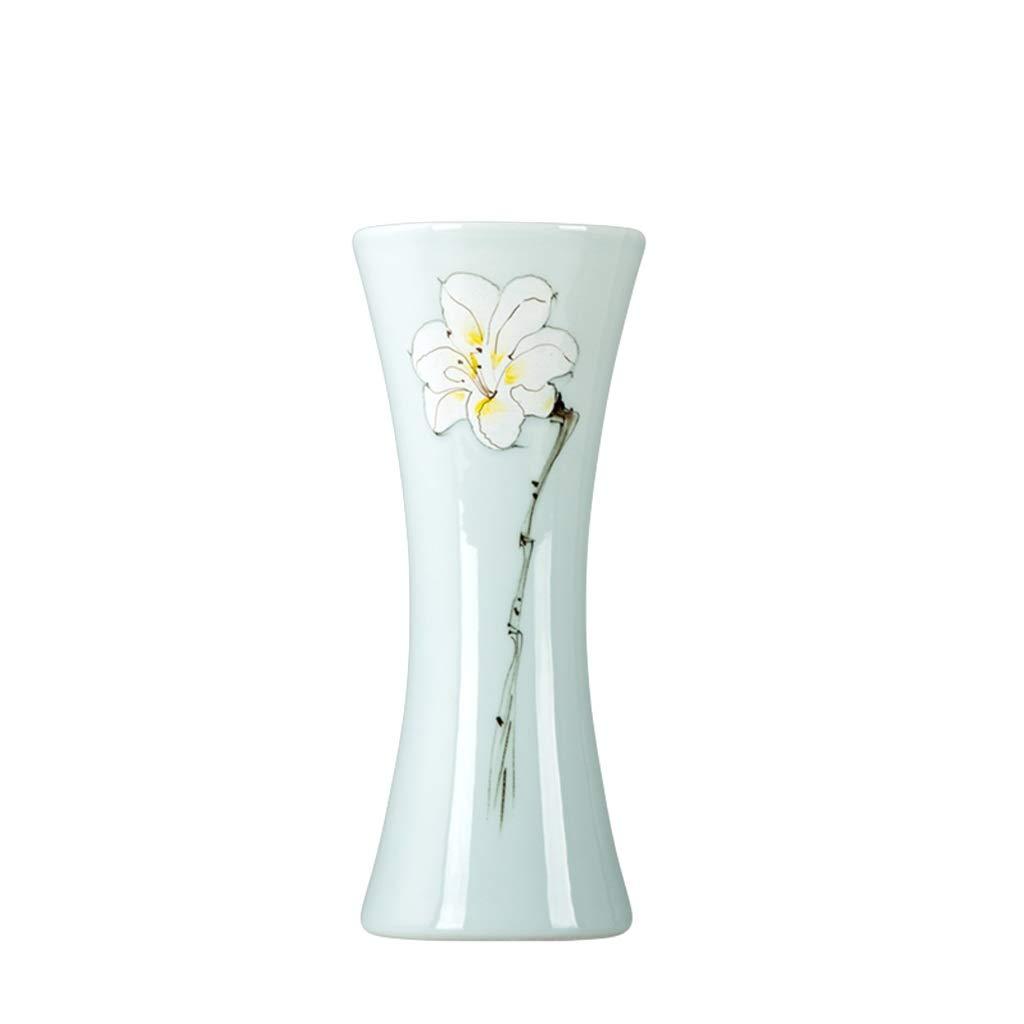 LIULIJUN 花瓶セラミック手描きの3ピース花瓶ドライフラワーアレンジメントモダンな新しい中国のリビングルームの家の装飾の装飾 (Size : L) B07T7DCHNN  Large