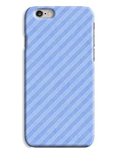 Blue Pinstripes iPhone 6 Plus Hard Case Cover wangjiang maoyi by lolosakes