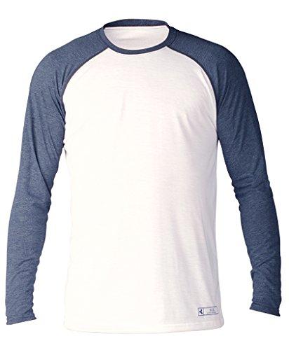 Long Sleeve T-shirt Wetsuit - Xcel Men's Threadx Long Sleeve Spring 2018 Wetsuit, White/Navy, Large