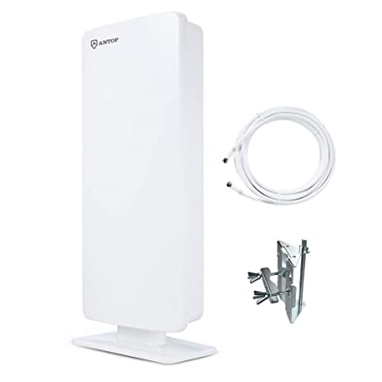 ANTOP AT-400 Flat-Panel Outdoor/Indoor TV Antenna with High Gain-