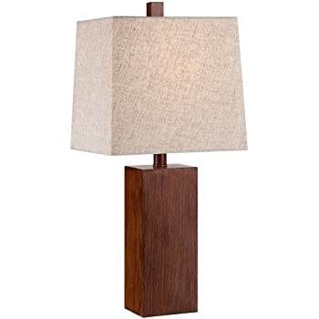 Darryl wood finish rectangular table lamp amazon darryl wood finish rectangular table lamp aloadofball Images