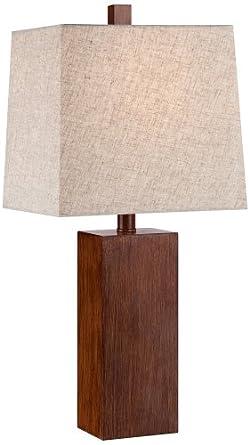 Amazon Com Darryl Wood Finish Rectangular Table Lamp