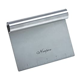 Stainless Steel Scraper/Chopper 9 Built in measuring guide Measures 6-inch by 4-inch /15cm by 10cm Dishwasher safe