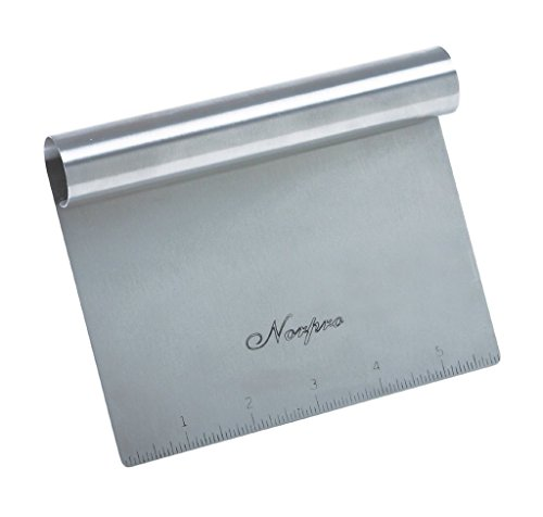 Norpro Stainless Steel Scraper/Chopper 1 A great kitchen tool with a wide variety of uses! Designed to scrape and split bread dough, it can also be used for scraping, crushing, chopping and measuring!