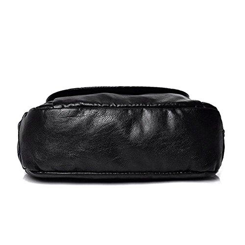 en PU Soft Femmes Demiawaking Sac main à épaule Crossbody Bandoulière Flap Bag à Noir Messenger Zipper cuir sac qBvAp4B