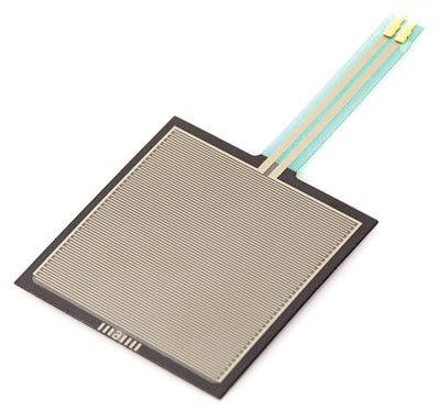 FORCE SENSING RESISTOR,1.5 INCH SQUARE,1oz-22LBS,2 LEADS,0.1 INCH SPACING