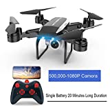 Push-button Control Drone with Camera Foldable RC Quadcopter...