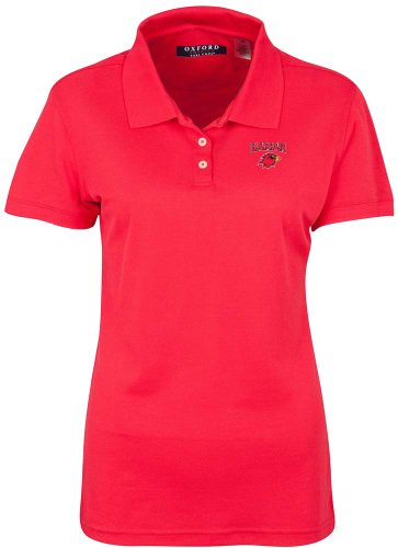 NCAA Lamar Cardinals Women's Ladies' Classic Pique Polo, Cardinal, (Cardinals Classic Pique Polo)
