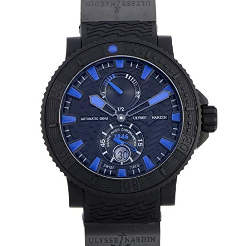 Ulysse Nardin Marine Diver Black Sea / Blue Sea Automatic COSC Watch - - Ulysse Nardin 92 Watches