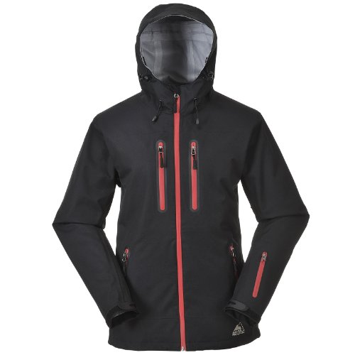 Swain Women 000mm Cox Black Waterproof Zipper red Titanium 15 Hard Shell Hurrican Jacket qOxBdFw