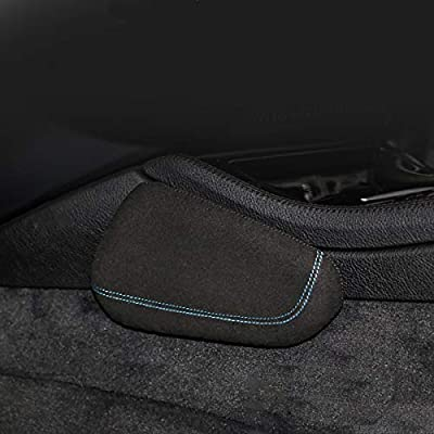 Fleming Car Center Console Knee Pad, Driver Side Soft Cushion for Knee Pain Relief, Knee Pillow Made of Quality Suede and Memory Foam (Blue line, Suede): Automotive