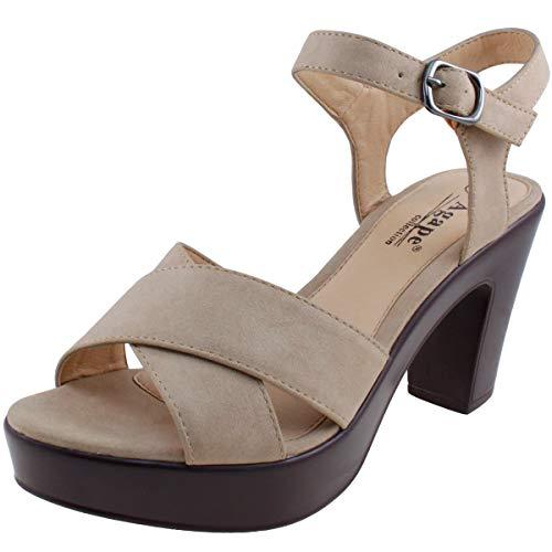 (Agape POST-35 Platform Chunky Heel Sandal (9,)