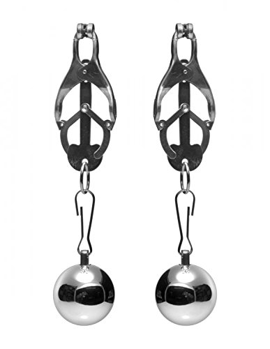 Master Series Deviant Monarch Weighted Nipple Clamps by Master Series