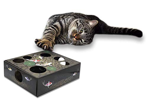 DoyenCat Puzzle Box for Cats Interactive Toy & Treat Maze Amazing Play Puzzle Treat Feeder for Cats and Kittens
