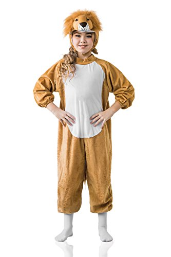 Kids Girls Little Young Wildlife Animal Wilderness Fun Outfit Costume & Dress Up (6-8 years, Brown/White)