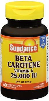 Sundance Beta Carotene Vitamin A 25,000 IU - 60 Softgels, Pack of 6