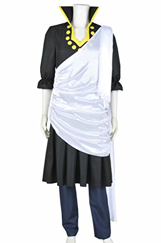 [CosplayNow Fairy Tail Zeref Cosplay Costume Uniform Black Female XS] (Zeref Cosplay Costume)
