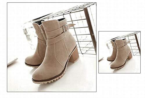 Caldi Cotone Pelle 36 43 Bufalo Di scarpe Martin stivali Wsr Antiscivolo Stivali Donna Per xqw7aXa8