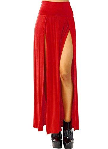 Red Long Skirt - 5