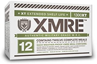 XMRE Meals 1300XT - 12 Case with Heaters (Meal Ready to Eat - Military Grade)