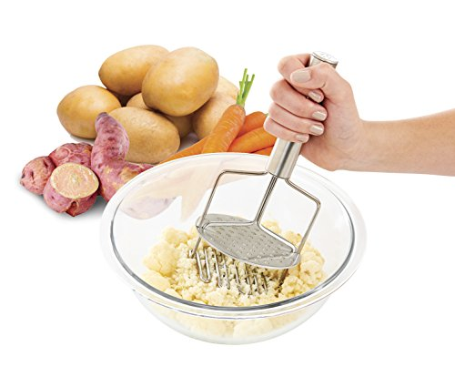 The World's Greatest Dual-Action Potato Masher and Ricer, 18/8 Stainless Steel