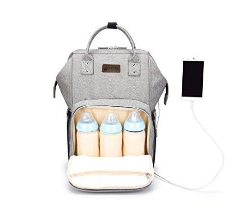 Chrois Premium Designer Diaper Bag Backpack with USB Chargin